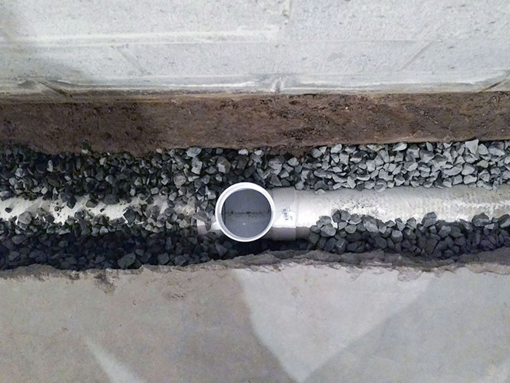 After Drain Tile/French Drain Installation