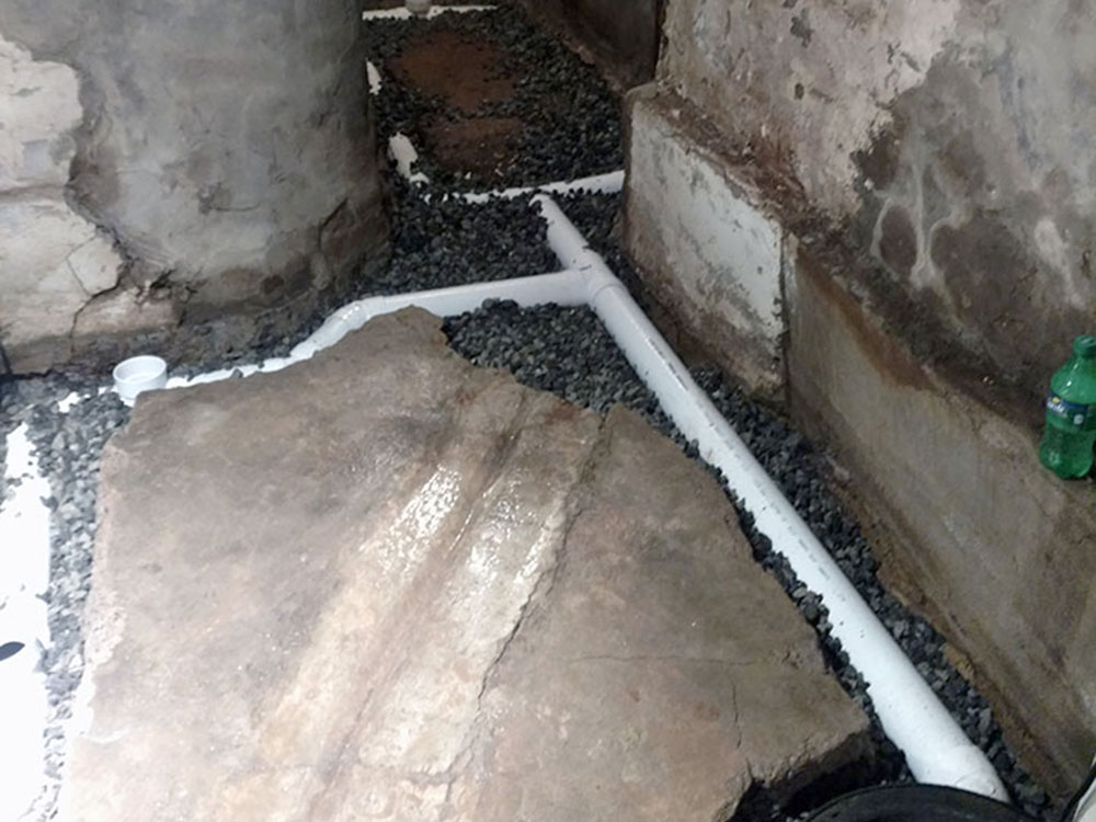 Before Drain Tile/French Drain Installation