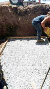 Preparing the foundation for Bilco  Door