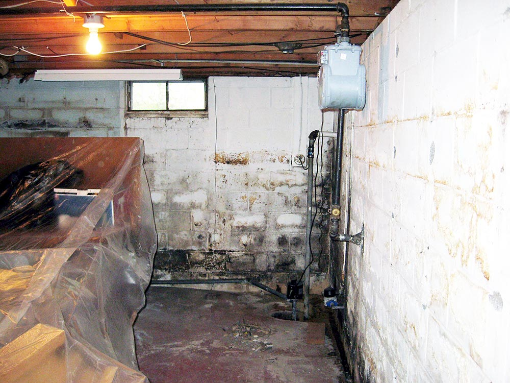 Before Waterproof Basement Wall Panels